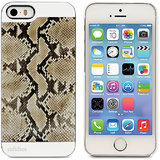 Ahha Bruno Metallic Back Case Cover For Apple IPhone 5S / 5 - Snake Brown