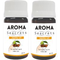 Biotrex Aroma Seacrets Jojoba Essential Oil for healthier hair and softer skin (30ml) - Pack of 2