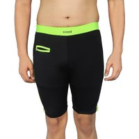 NNN Mens Black Knee Length Lycra Swimming Trunk