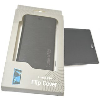 Brawnie Flip Cover for Nokia Lumia 720 Black available at ShopClues for Rs.250