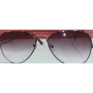 Stylish Unisex Aviator Sunglasses With Brown Coloured Frame