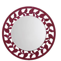 Height Of Designs Leaf Border Mirror