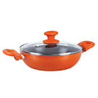 Prestige Creme Ceramic Non-Stick Cookware Kadai 240 MM WITH LID