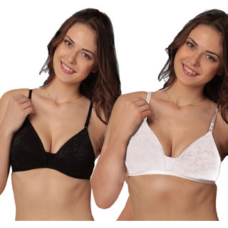 Sona Black /White / WomenS LC Foam Heavy Padded T-Shirt Bra