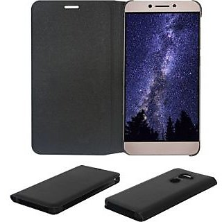 Premium Quality Lenovo K5 plus Leather Flip Black