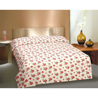 Curl Up Cotton Single Bed Sheet With 1 Pillow Cover Multicolor (145 TC)