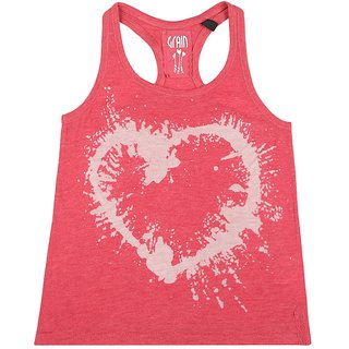 GRAIN Girls Geometric Print Sleeveless Tank Top