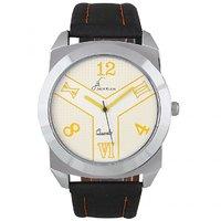 Jack Klein Round Dial Black Strap Stylish Analogue Wrist Watches For Men