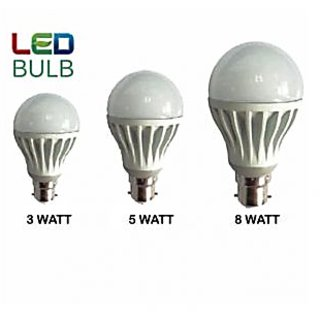 BRIO LED BULB 3W 5W 8W Combo (Set Of 3)