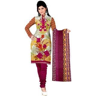 Lovely Look Multi Printed Un-Stitched Chudidar Suit LLKKFKPNDV33011