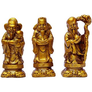 Astro Guide Fuk Luk Sau statue set fengshui item