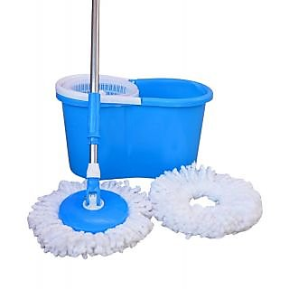 Best Home Blue Pvc Mop With 2 Micro Fiber
