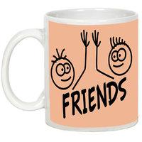 Friendship Day Gifts - AllUPrints Amazing Friends White Ceramic Coffee Mug - 11oz