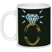 Friendship Day Gifts - AllUPrints Friends Are Like Diamonds White Ceramic Coffee Mug - 11oz