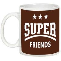 Friendship Day Gifts - AllUPrints We Are Super Friends White Ceramic Coffee Mug - 11oz