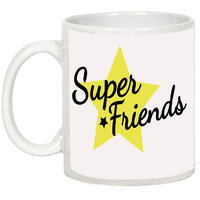 Friendship Day Gifts - AllUPrints Super Friends White Ceramic Coffee Mug - 11oz