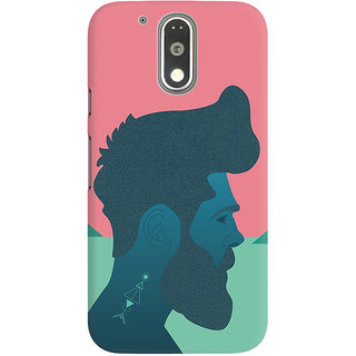 Dreambolic A Boy Having Big Beared Graphic Back Covers