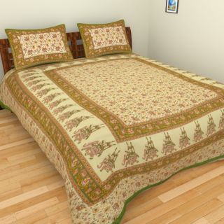 Jaipuri  Sanganeri Print Cotton Bedsheet King