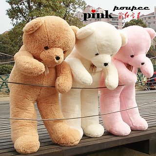 60 INCH SOFT TEDDY BEAR BROWN / PINK / PEACH COLOUR ( FOR UR BELOVED ONE AND GIFTING )