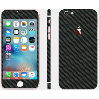 iphone 6s black carbon skin cover (front+back+sides)