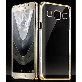 Samsung Galaxy J5 Golden Bumper Transparent Back Cover