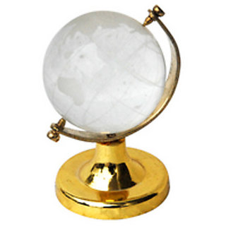 Astro Guide 3 inch Crystal Glass Globe for Feng shui and Vastu Cure