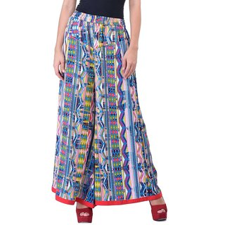 Ramya Smart Fit Flaired Plazzos Pant
