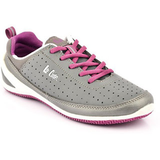 Lee Cooper Womens LF0437 Grey Sports Shoes Size-36