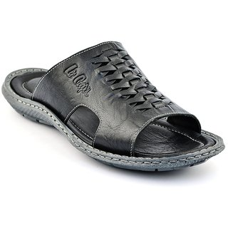 Lee Cooper Mens 1926 Black Slippers
