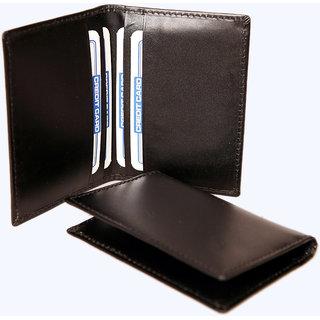 100GENUINE LEATHER CARD HOLDER NEW BUSINESS CASE CREDIT CARD HOLDER BL CD402