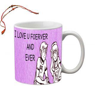 meSleep Bro  Sis Love Rakhi Mug With Beautiful Rakhis