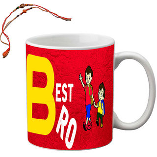 meSleep I Know I am Best Bro Rakhi Mug With Beautiful Rakhis