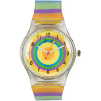 Round Dial Multi Silicone Strap Analog Watch For Unisex By StolN