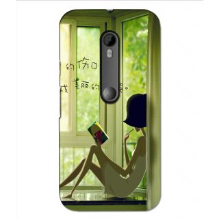 Instyler Premium Digital Printed 3D Back Cover For Moto G3