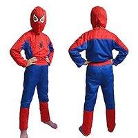 Arohi Multicolour Polyester Spider Man Costume For Boys