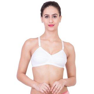 Ultrafit White Cotton Regular Bra ULTIMA-WHITE
