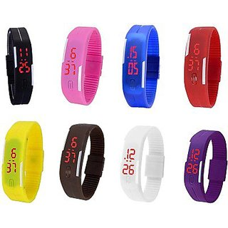 TRUE COLORS LED MULTI COLOR UNISEX COMBO LIMITED STOCK FAST SELLING OUT Digital Watch - For Boys, Girls, Men, Women