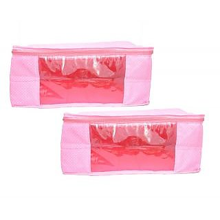 400ab6af8d15d Mun Shree Pink Doth 5 Pcs Saree Cover Box Combo Pack Of 2 available at  ShopClues