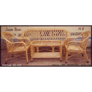 Cane Lehar Sofa Set with Table