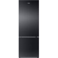 Haier 345 Ltrs Hrb-3654Pkg Refrigerator Bottom Freezer Black Glass Door