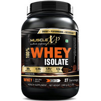 MuscleXP 100 Whey Isolate - 1Kg (2.2 Lbs), Double Rich Chocolate - The New Whey Standards