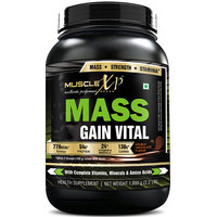 MuscleXP Mass Gain Vital (Mass Gainer With MultiVitamins) - 1Kg (2.2 Lbs), Double Rich Chocolate