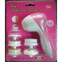 5 In 1 BEAUTY CARE MASSAGER BATTERY Beauty  Clean Set FACE Beauty Massager(free 1 Sponge)