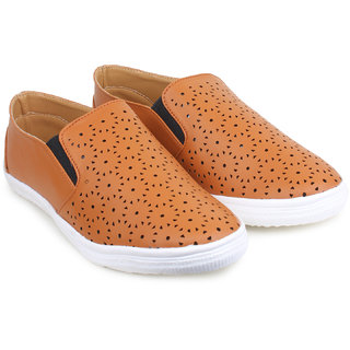 Do Bhai Women Canvas-Aone-Tan Casual Shoes