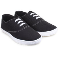 Do Bhai Women Canvas-Hero-Black Casual Shoes