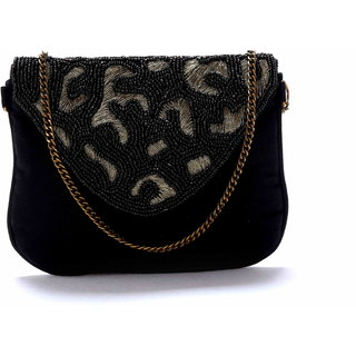 Diwaah!! Hand crafted black embroidered clutch