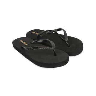 Do Bhai Women Toffy-Black Slippers