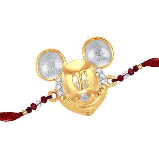Sukkhi Cubic Zirconia Studded Mickey Mouse Rakhi For Kids
