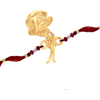 Sukkhi Gold Plated Studded Mr. Bean Rakhi For Kids