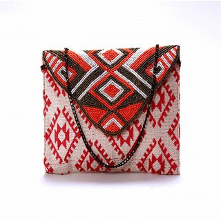 Diwaah!! Hand crafted multi embroidered clutch
